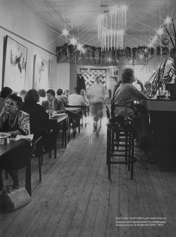 Een oude foto van Restaurant Luxembourg in Harderwijk