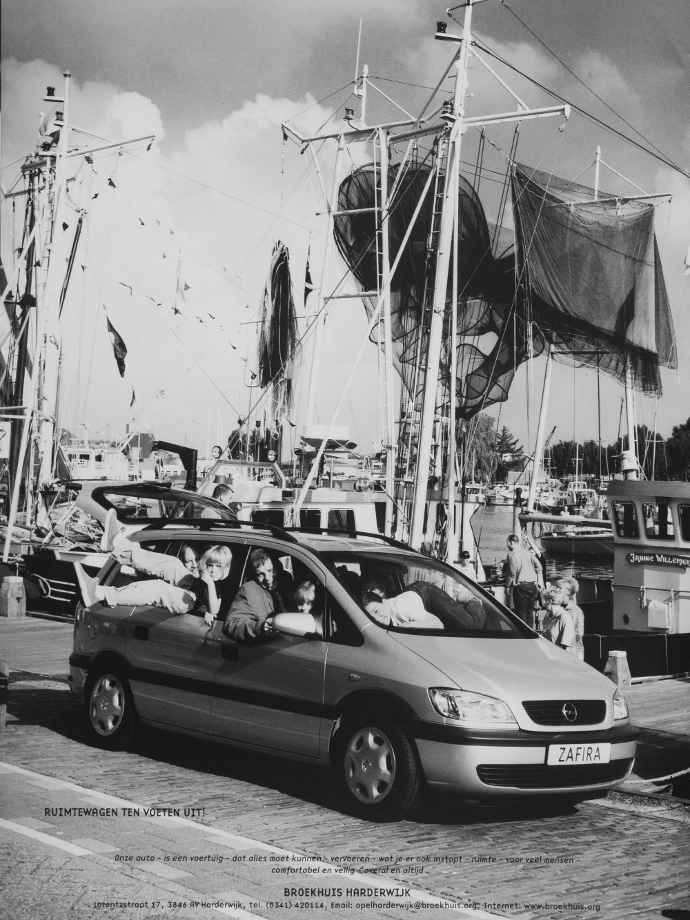 Oude foto van Broekhuis Opel Harderwijk