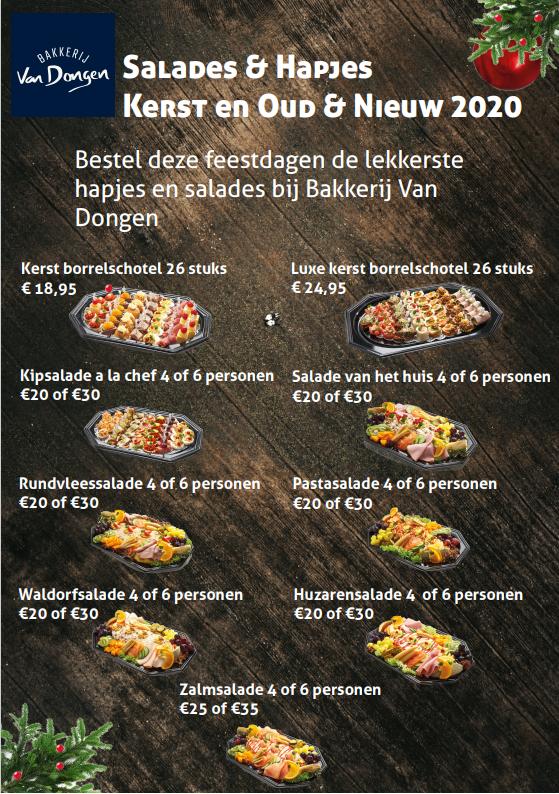Salades en hapjes Bakkerij van Dongen