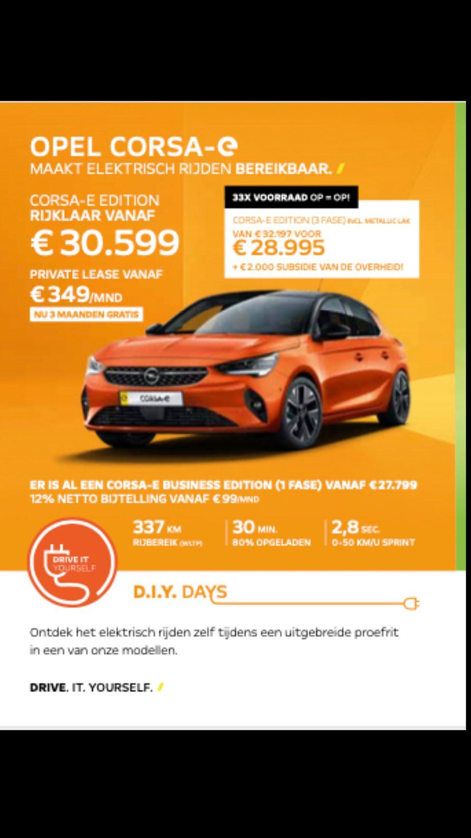 Elektrisch rijden Broekhuis Opel Harderwijk