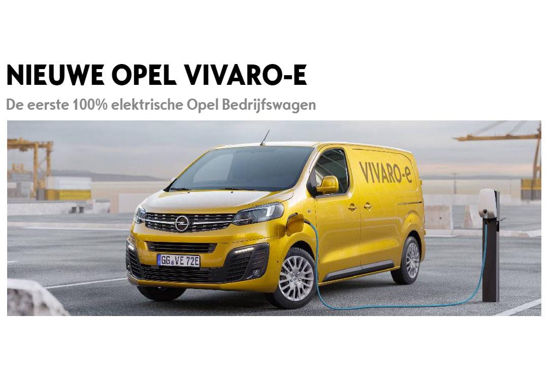 Opel Bedrijfswagen Vivaro-e Broekhuis Opel Harderwijk Ermelo