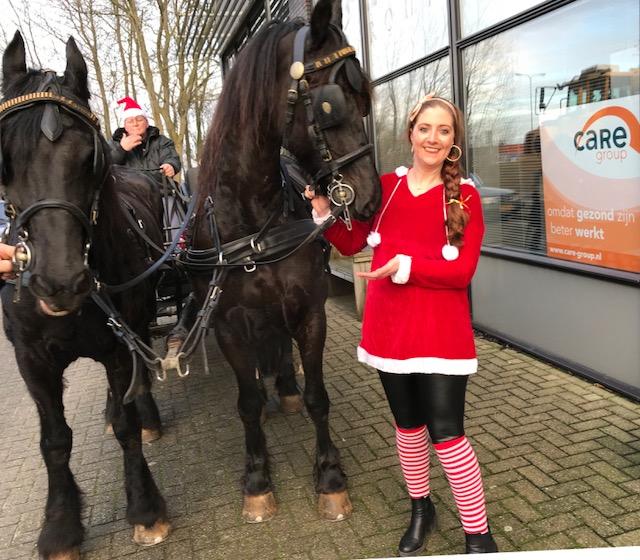 Care Group Joyce met paard en wagen