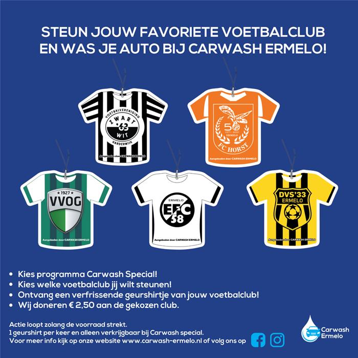 Carwash Ermelo voetbalverenigingen actie 2021