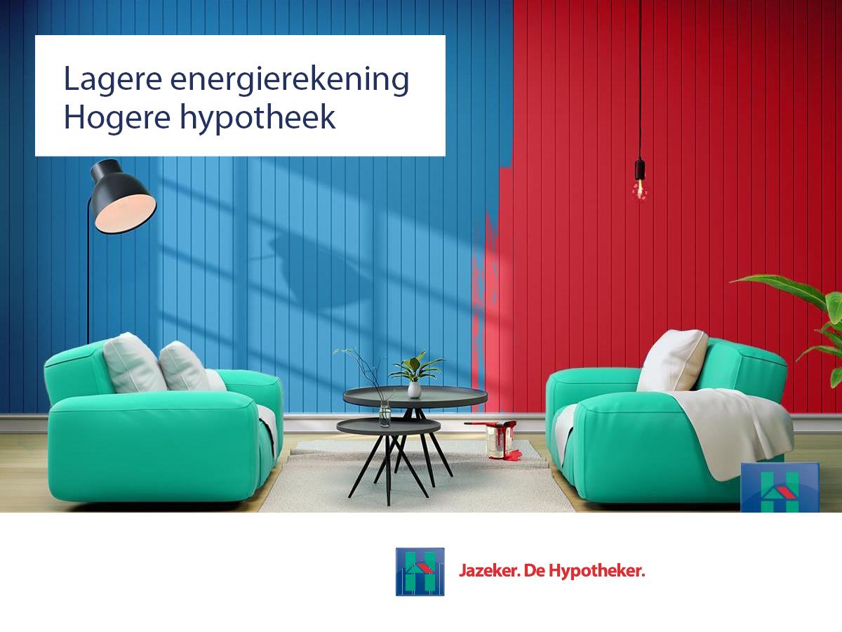Lagere energiekosten, hogere hypotheek de Hypotheker Harderwijk