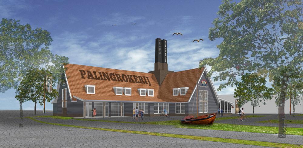 Nieuwbouw Palingrokerij en Vishandel Dries van den Berg Harderwijk palingmuseum
