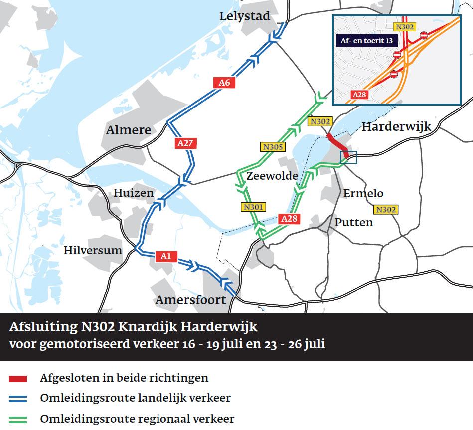 Onderhoudswerkzaamheden N302 Harderwijk