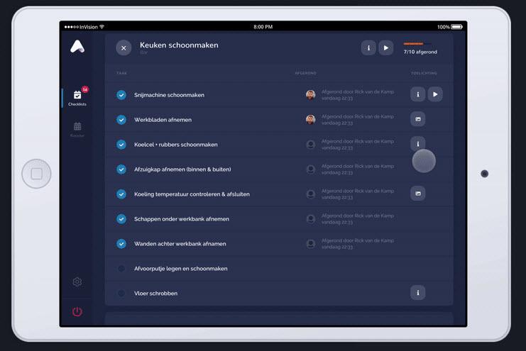 Tablet prototype Index Software Harderwijk