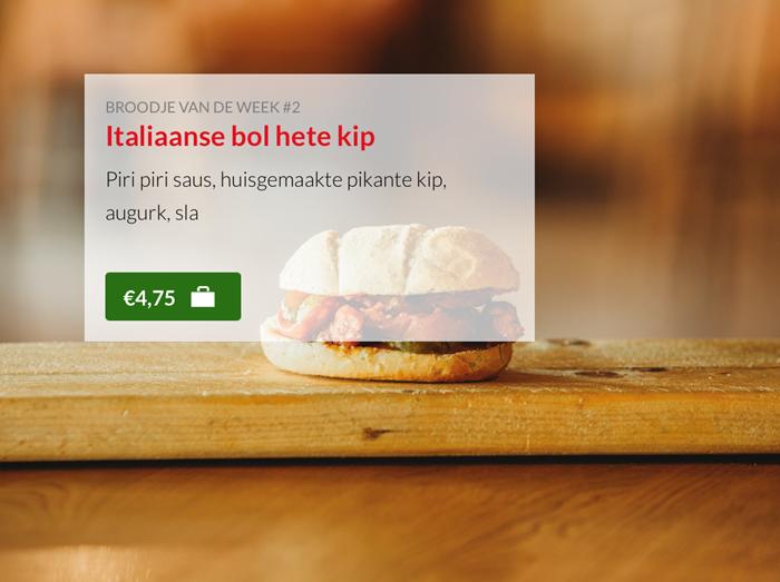 Italiaanse bol hete kip Kok Experience broodjes