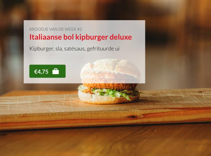 italiaanse bol kipburger deluxe