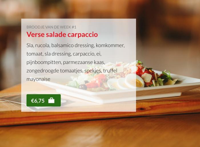 Verse salade carpaccio