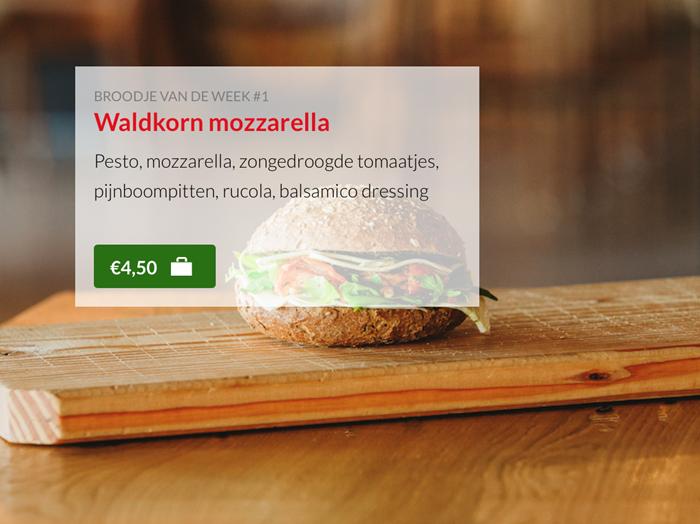 Waldkorn mozzarella Kok Experience Harderwijk