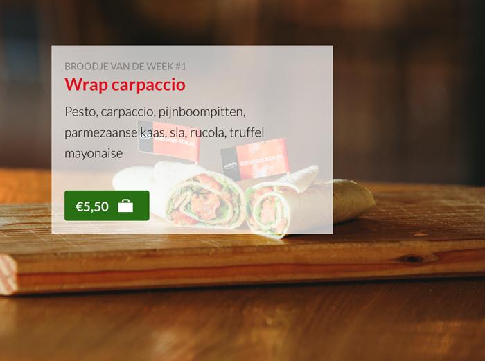 Wrap carpaccio Kok Experience Harderwijk