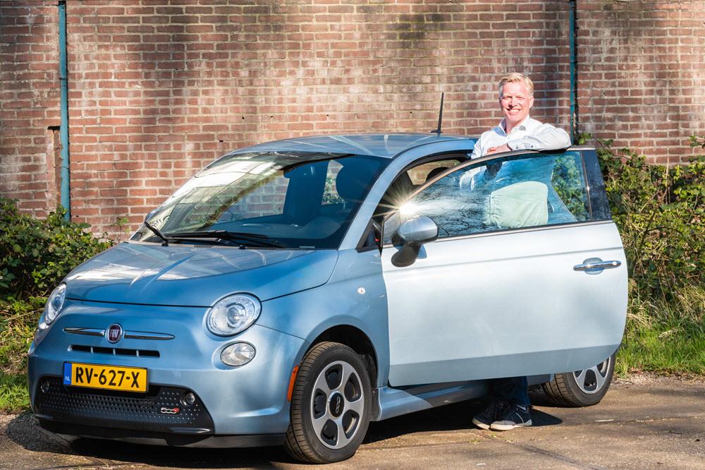 Fiat 500E EV mobiel Christiaan 't Jong Roodbont auto's Zeewolde