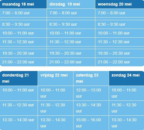 Tijdsblokken zwembad de Sypel Harderwijk