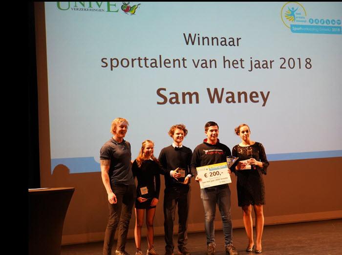 Sam Waney sporttalent 2018 Ermelo