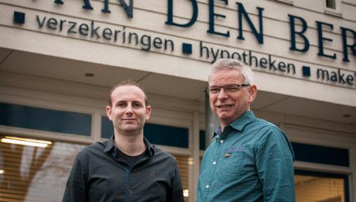 Jan Broekhuizen en Herman van Ark van Van den Berg Verzekeringen