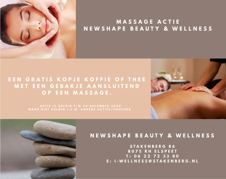 Massage actie Newshape Beauty en Wellness