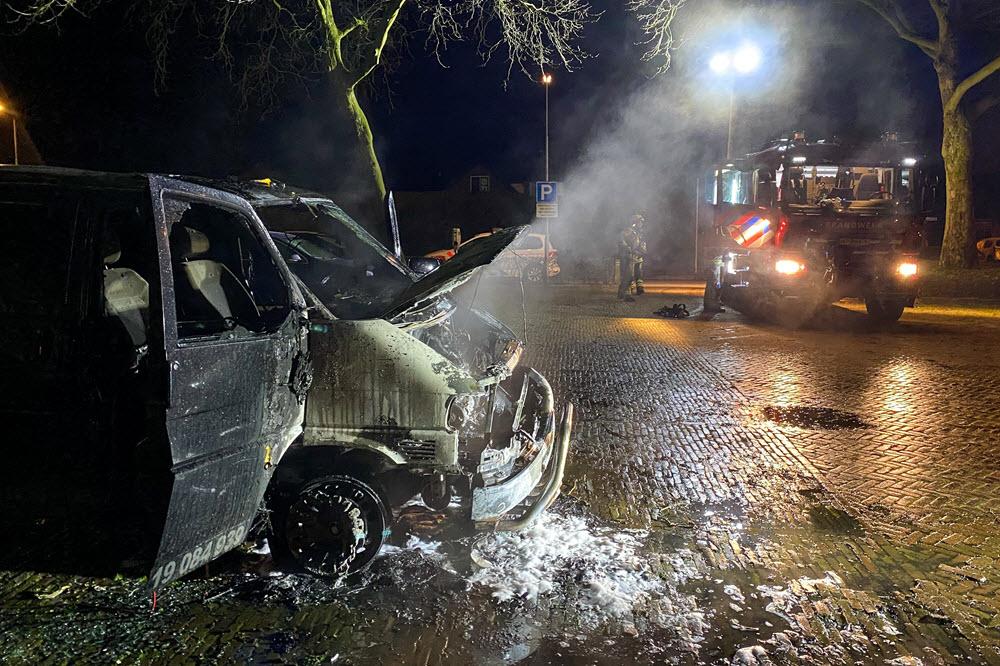 Autobrand op de Struikakkers in Ermelo