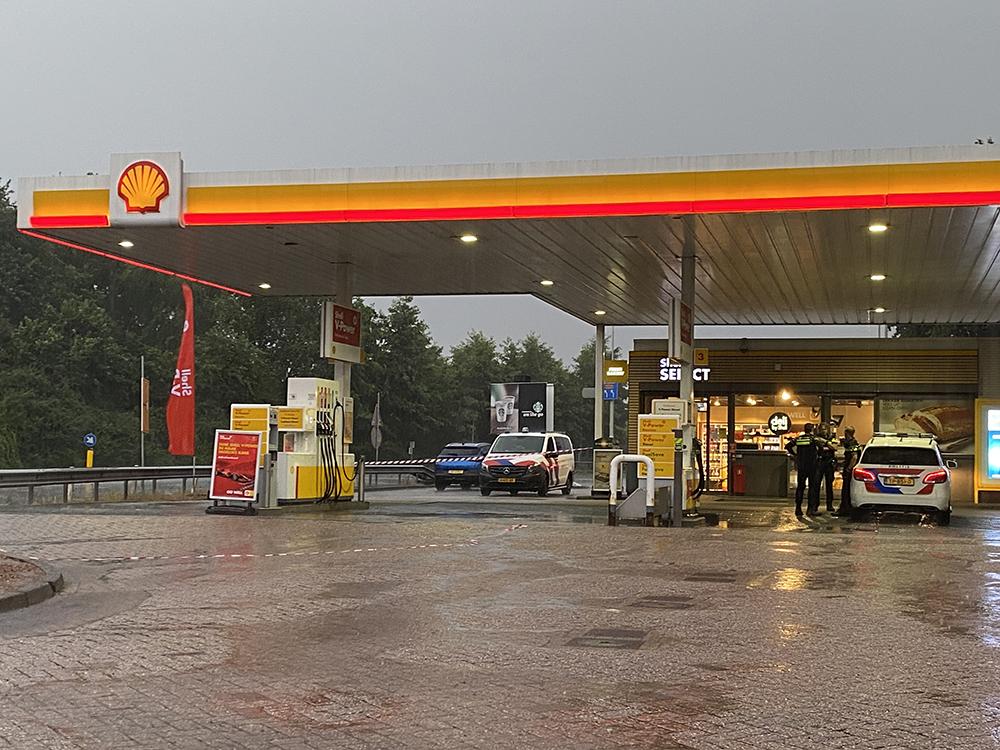 Gewapende overval op tankstation