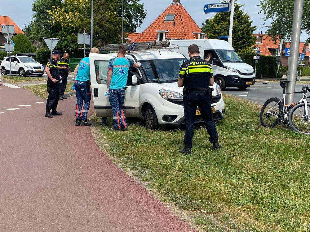 Ongeval wielrenner rotonde Hamburgerweg Ermelo