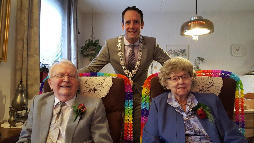 Bruidspaar Mostert 65 jaar getrouwd Harderwijk