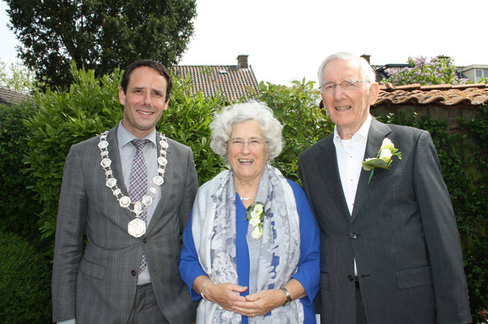 Bruidspaar van Zalk van de Rozenboom 60 jaar getrouwd Harderwijk