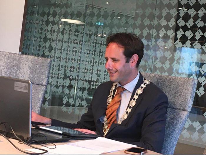 Burgemeester Harm Jan van Schaik Harderwijk