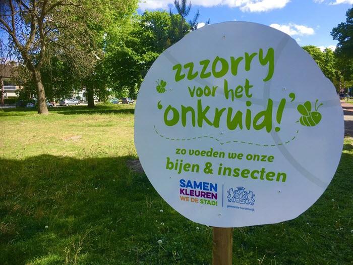 Bzzz bord gemeente Harderwijk