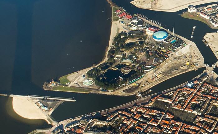 Luchtfoto Waterfront en boulevard Harderwijk