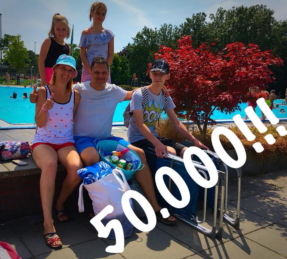 50.000ste bezoeker voor zwembad de Sypel