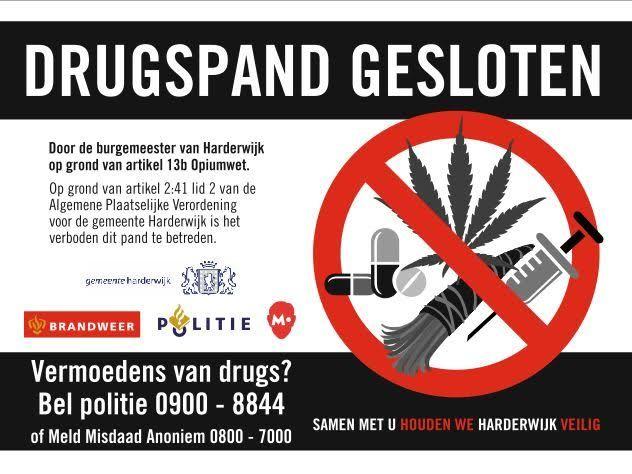 Drugspand gesloten Harderwijk