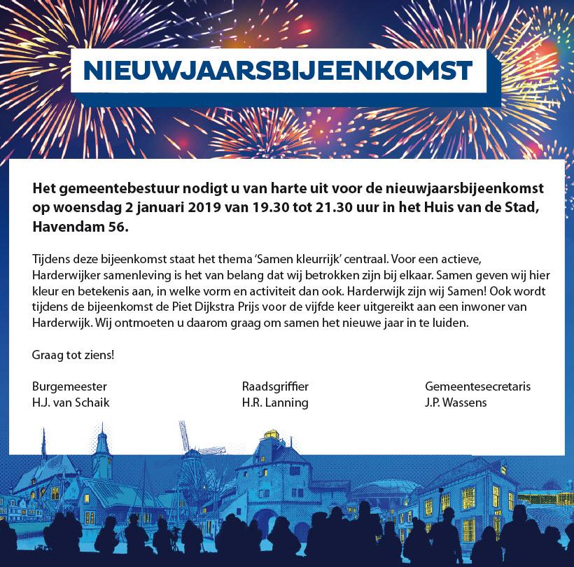 Nieuwjaarsbijeenkomst Gemeente Harderwijk 2 januari 2019