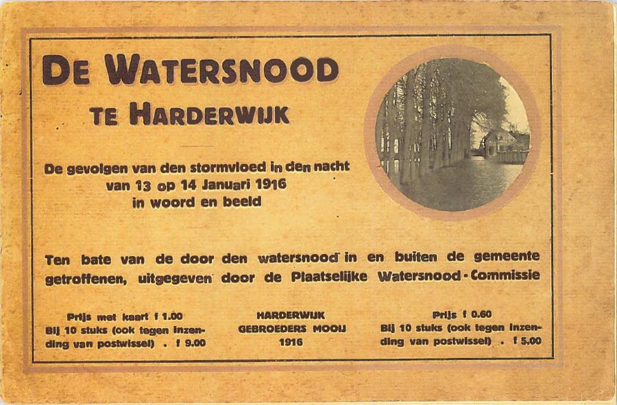 boekje uitgegeven over de watersnood in 1916