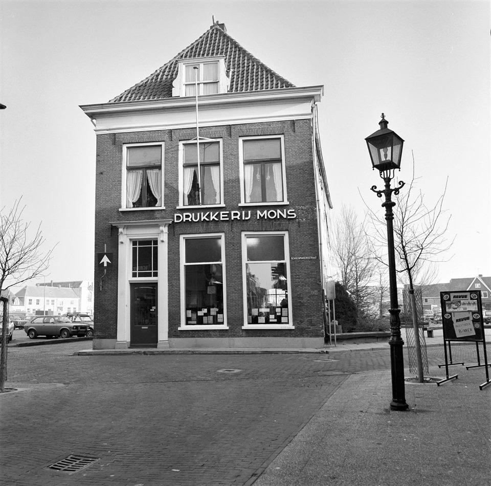 Drukkerij Mons Harderwijk foto uit 1980