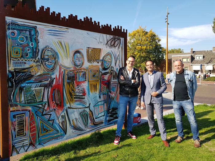 Kunstwerk Friends van kunstenaar Peter Riezebos Harderwijk