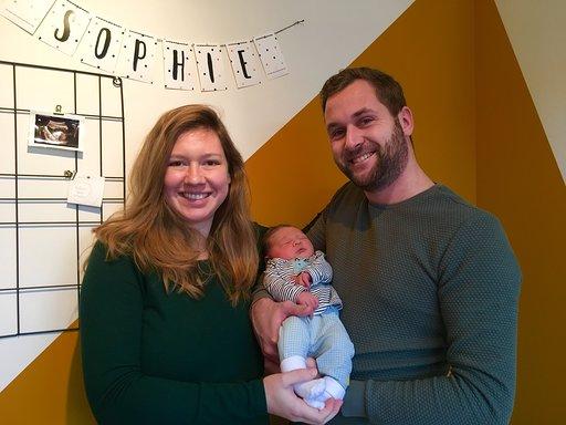 Ricardo en Vivian met hun baby Sophie eerste baby 2019 Harderwijk