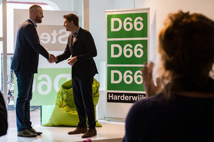 Paternotte opent pop up store van D66 in Harderwijk
