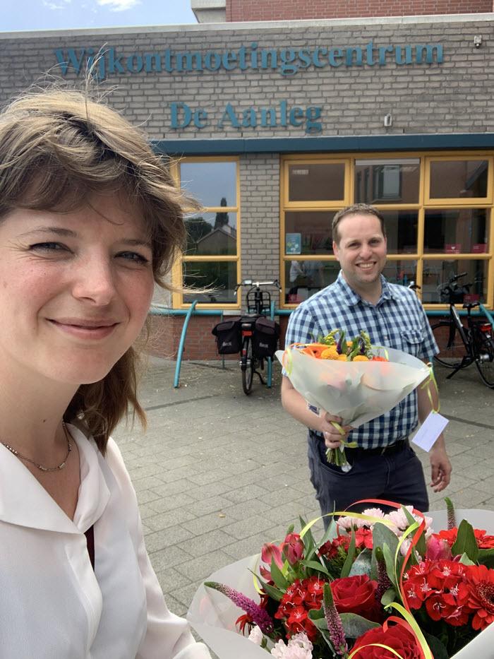 Anke D66 en Wilco PvdA Wijkontmoetingscentrum de Aanleg Harderwijk