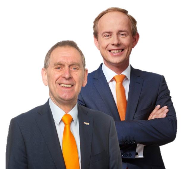 Jan van Panhuis en Kee van der Staaij SGP