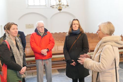 Josan Meijers Gedeputeerde bezoek in de Grote Kerk Harderwijk