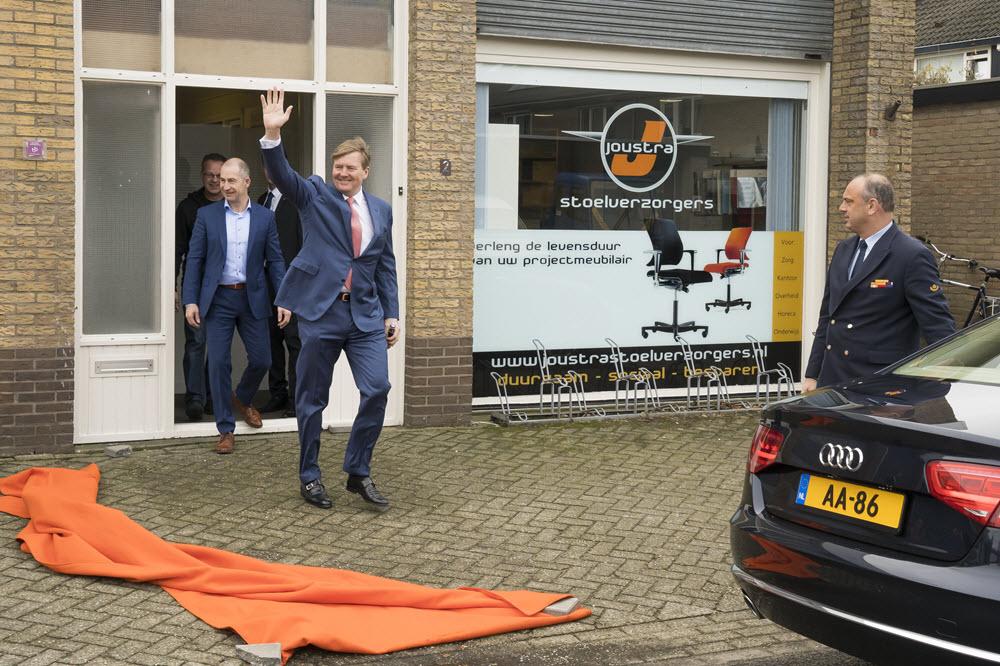 Koning Willem-Alexander in Harderwijk