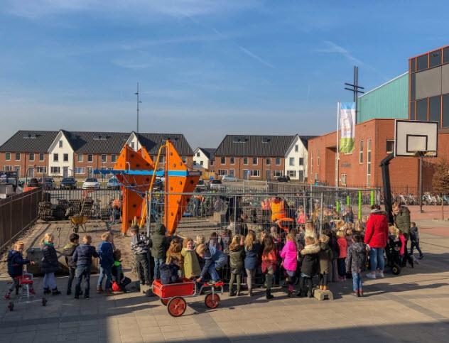Schoolplein naar groen plein CBS het Startblok Harderwijk