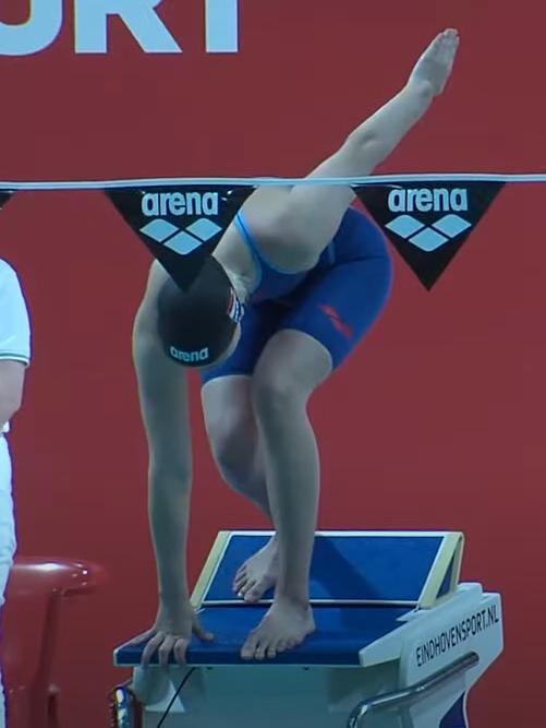 Paralympisch zwemster Lisa Kruger