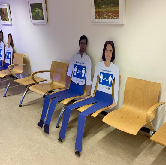 Kartonnen personen ziekenhuis St.Jansdal