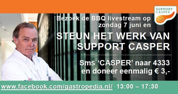 Support Casper tijdens BBQ-livestream spektakel