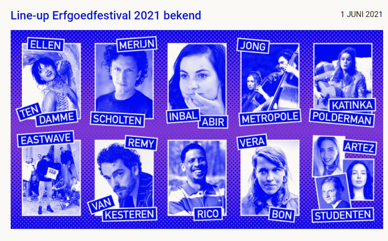 Erfgoedfestival 2021