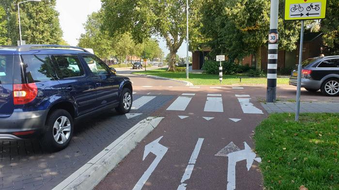 Fietspad Hogeweg Harderwijk fietspad houdt hier op