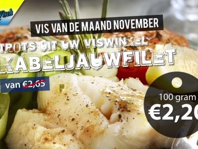 Aanbieding Martin Visch Harderwijk: kabeljauwfilet