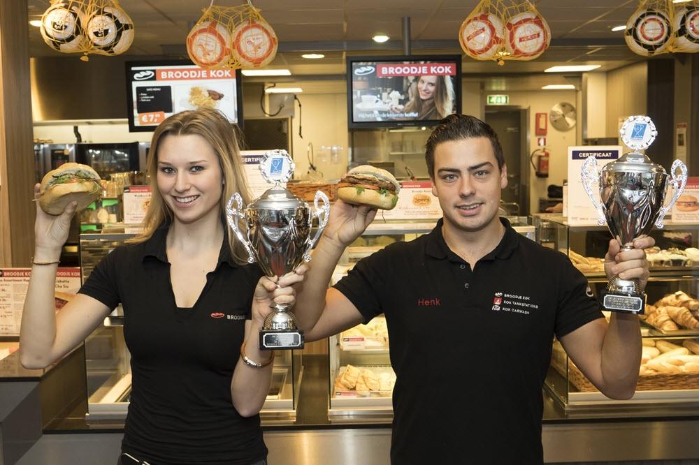 Broodje Kok Harderwijk wint twee prijzen op de Horecava tijdens 'De lekkerste wedstrijden'