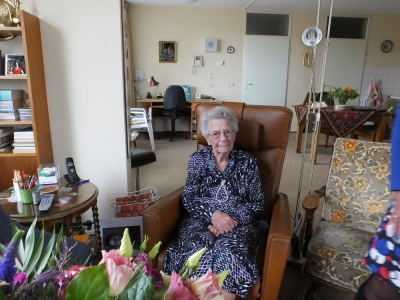 Mevrouw P. de Bruin-Kappers 100 jaar